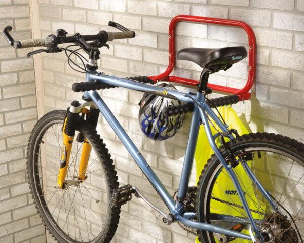 Uppfällbar cykelställning för 2 cyklar