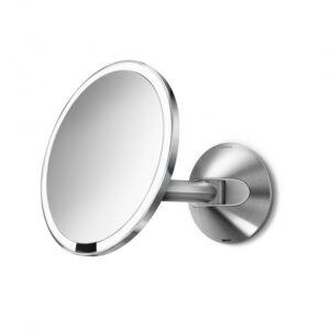 Väggmonterad Sensorstyrd Sminkspegel med Belysning Simplehuman  5x Förstoring