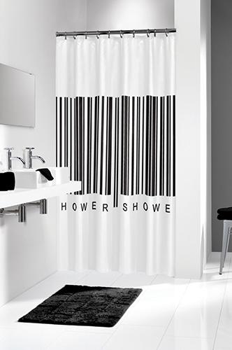Duschdraperi Barcode 180x200 cm