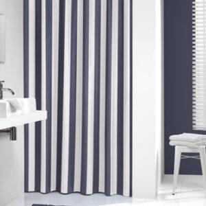 Duschdraperi Linje Blå 180x200 cm