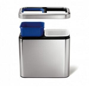 Slim Soptunna med 2 fack Simplehuman CW1470  20 liter