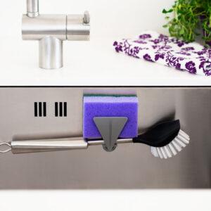 Magnetisk Diskborstehållare och Disksvamphållare till Diskho  Grå