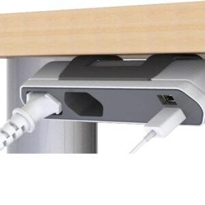Grenuttag Allocacoc Powerbar för Skrivbord 2 st. Europauttag 2 st. USB-uttag