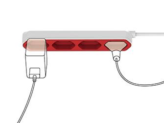 Grenuttag Allocacoc Powerbar för Skrivbord 4 st. Europauttag
