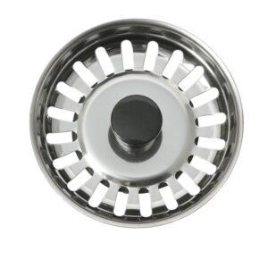 Intra Silkorg med svart lyftknopp och centrumpinne i plast Ø80 mm