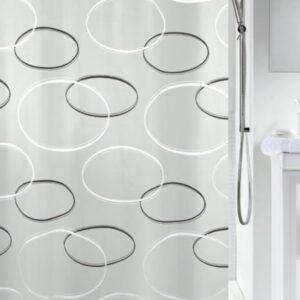 Duschdraperi Anello Grey 180x200 cm