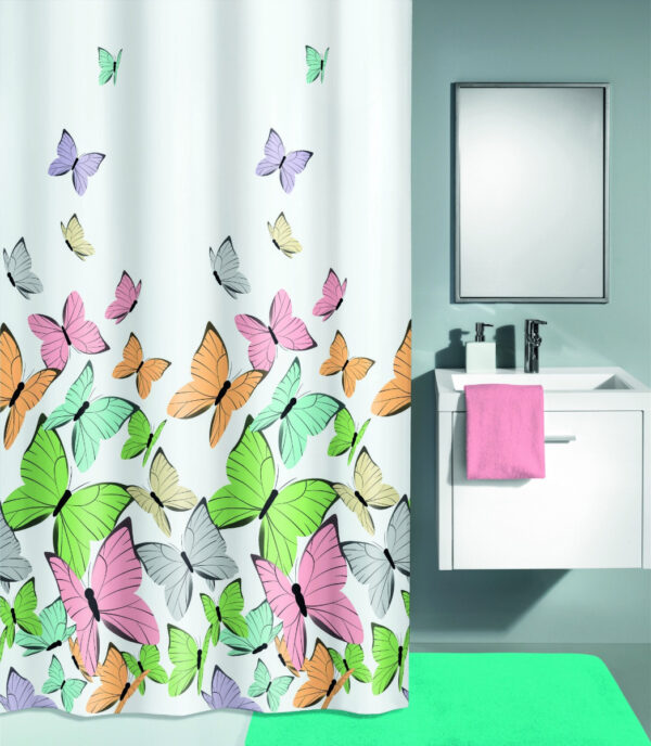 Duschdraperi Butterflies 180x200 cm