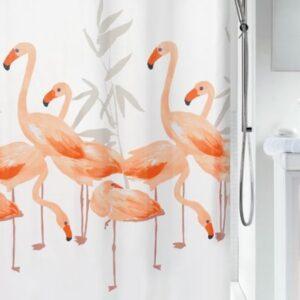 Duschdraperi Flamingo 180x200 cm