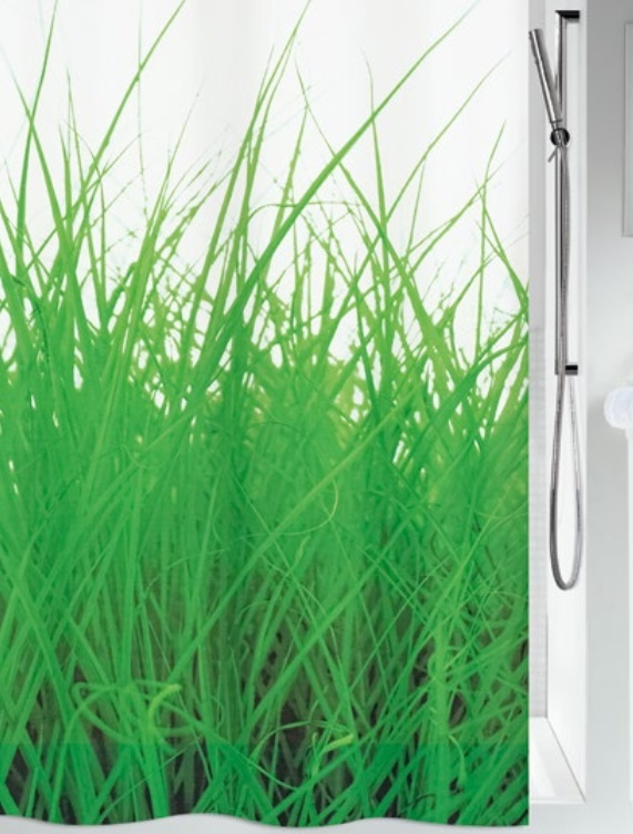 Duschdraperi Grass Green 180x200 cm (xTx)