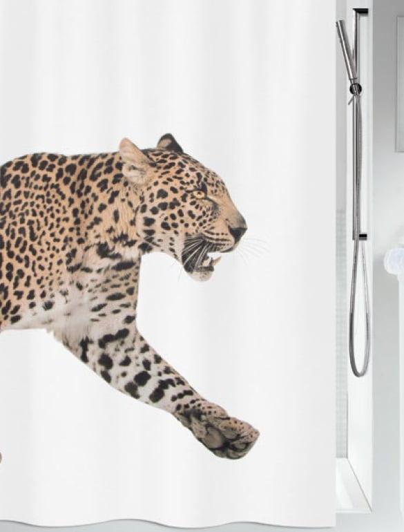 Duschdraperi Leopard 180x200 cm