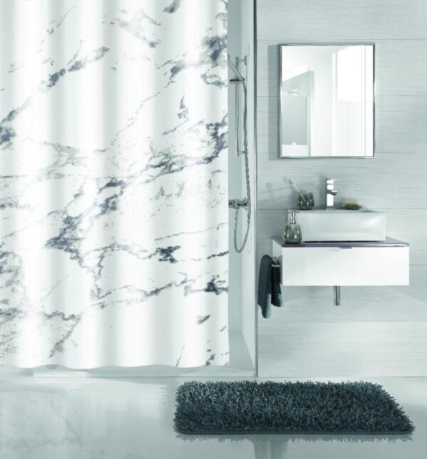 Duschdraperi Marble 180x200 cm