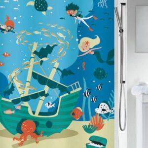 Duschdraperi Pirates 180x200 cm