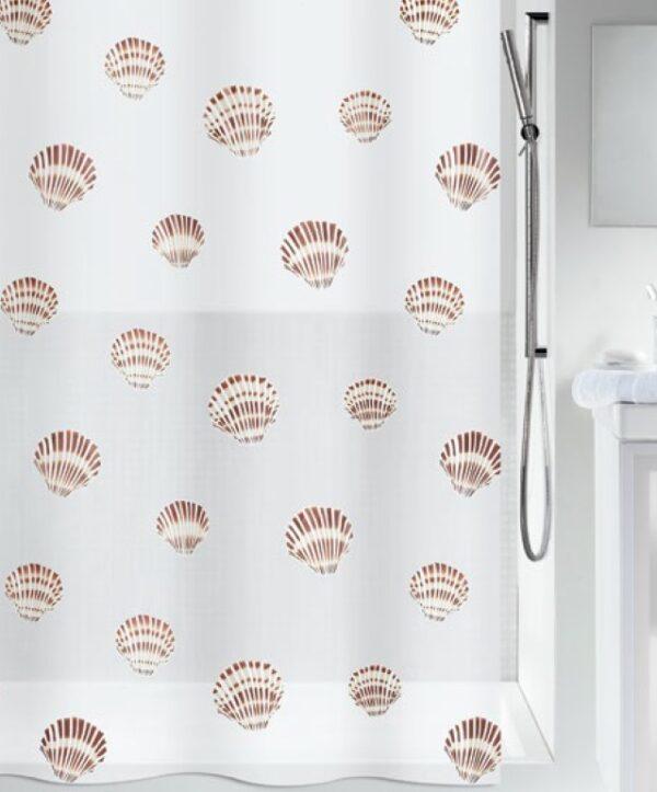 Duschdraperi Shell 180x200 cm