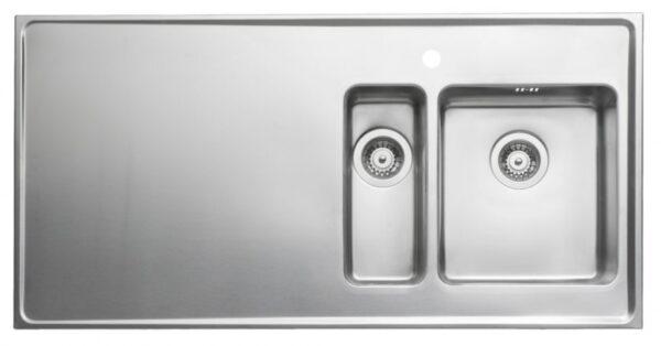 Heltäckande Diskbänk Intra Qube QG12 Två lådor 1200 mm