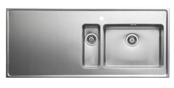 Heltäckande Diskbänk Intra Qube QG14 Med Två Hoar 1400 mm