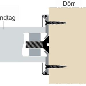 Monteringssats till Metal Bars Dörrhandtag