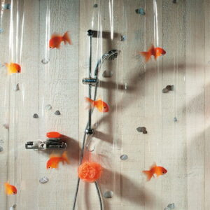 Duschdraperi Vinyl  Goldfish orange 180x200 cm