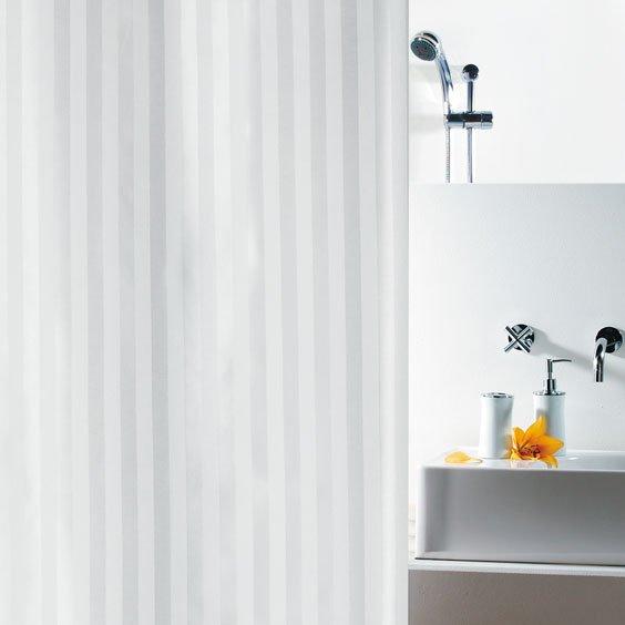 Duschdraperi Textil  Magi vit 180x200 cm