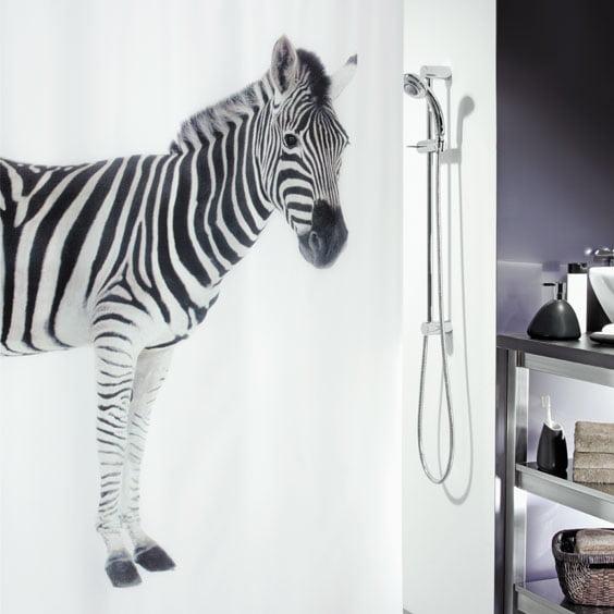 Duschdraperi Textil  Zebra 180x200 cm