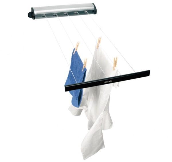 Tvättlina Brabantia Drag ut lina 22 m  Rostfri look