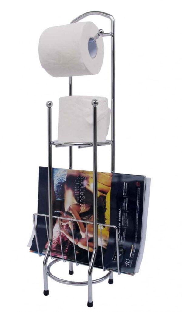 Toalettpappershållare och tidningsställ Reader  Krom