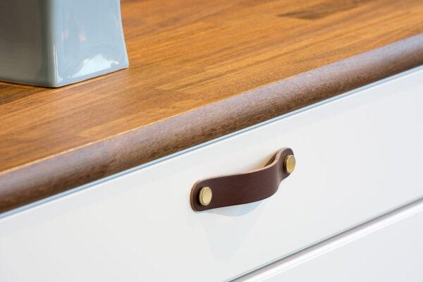 Handtag Beslag Design Loop Round Brun