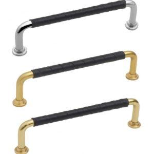 Handtag Beslag Design 1353 c/c 128 mm Läder