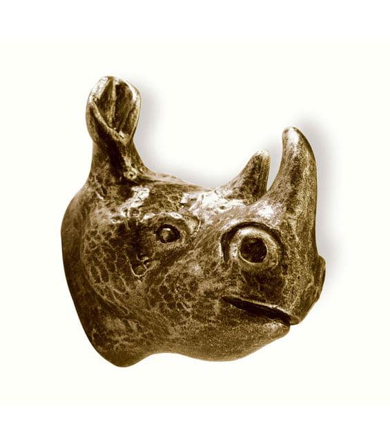 Barnknopp Noshörning  Antik
