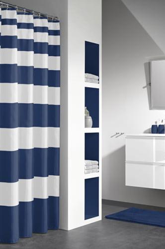 Duschdraperi Nautica Blå/Vit 180x200 cm