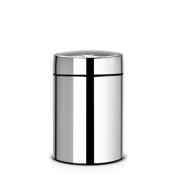 Väggmonterad Sophink Brabantia Slide Bin 5 liter  Blank Stål  Metallock (xTx)