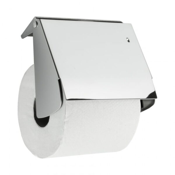Toalettpappershållare med Lock Beslag Design Solid