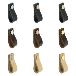 Handtag Beslag Design Loop Naturgarvat Läder