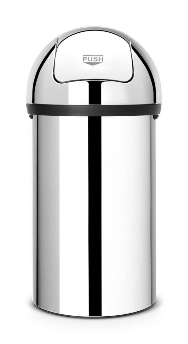 Soptunna Brabantia Push Bin 60 liter  Blank Stål (xTx)