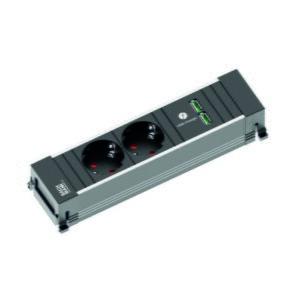 Eluttag Bachmann Power Frame  2 st. Eluttag  2 st. USB-portar (xTx)