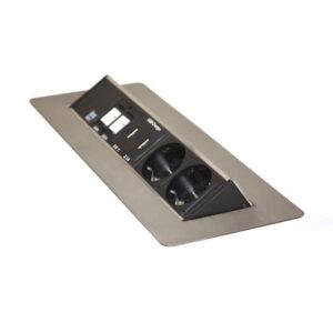 Axessline QuickBox 935-F200  2 st. El  2 st. USB-laddare  2 st. Data (xTx)