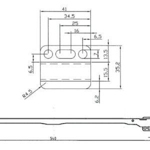 Glidskena 447201 till Trådbackar 16/19 mm Stomme  Vit (xTx)