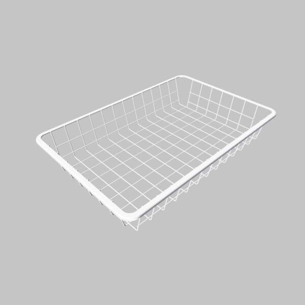 Trådback  Vit Höjd 85 mm