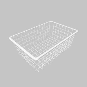 Trådback Vit  Höjd 175 mm