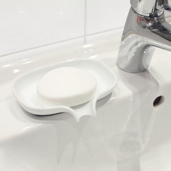 Tvålfat Med Avrinningspip Soap Saver Vit Porslin