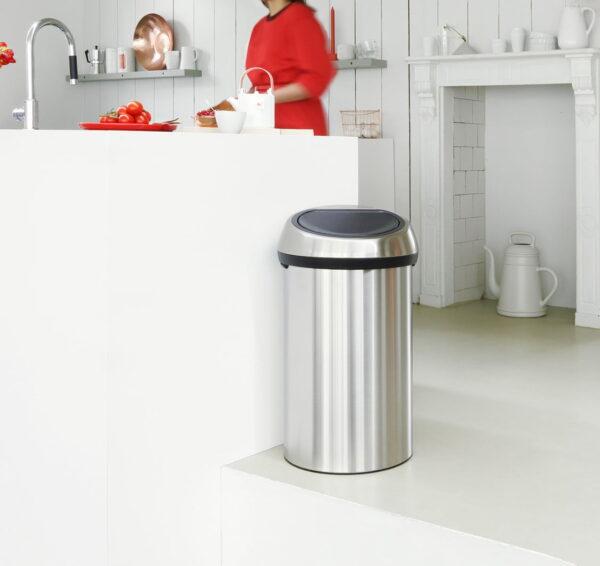 Golvstående Sophink Brabantia Touch Bin 60 liter