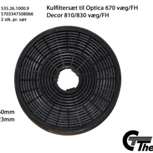 Thermex Kolfilter till Optica 670  Cardiff  Toulouse  Decor 810/830 och Calais 2-pack