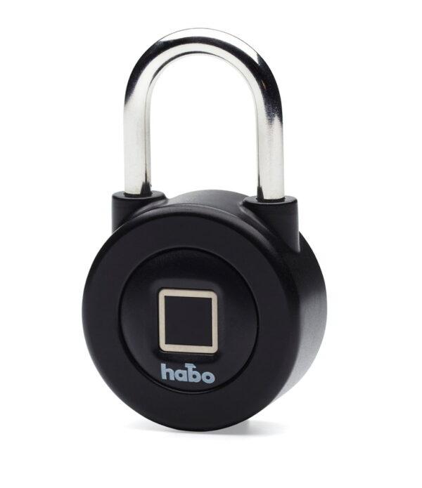 Hänglås Habo Smartlock med fingeravtryck- och bluetoothfunktion