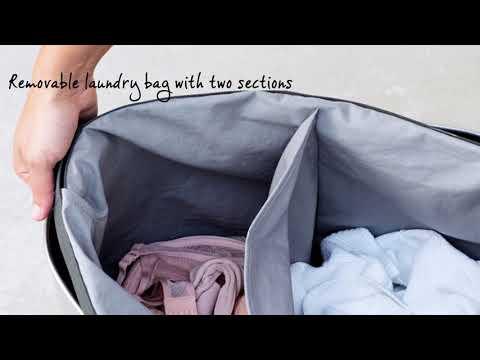 Tvättkorg Brabantia 55 liter 2 Fack