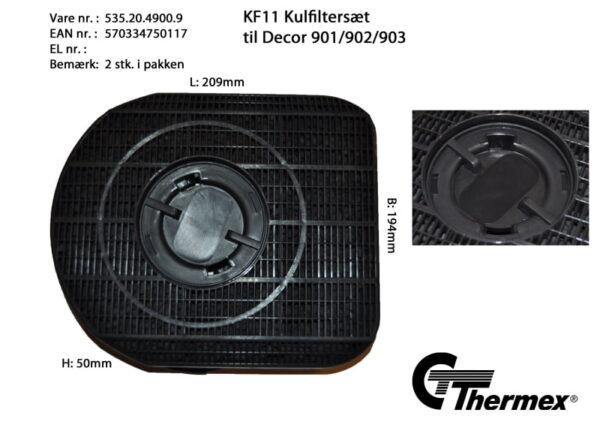 Kolfilter till Thermex fläktar KF11  2-pack