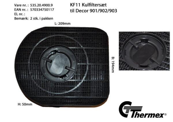 Kolfilter till Thermex fläktar KF11  2-pack (xTx)