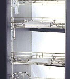 Maxi garderobs-inredning  roterbart i krom