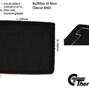 Thermex Kolfilter till Nice/Decor 840