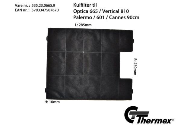 Thermex Kolfilter till Optica 665  Vertical 810