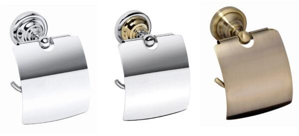 Toalettpappershållare med lock Classic Duschbyggarna