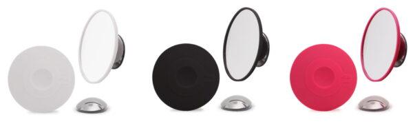Löstagbar sminkspegel med sugpropp och magnetfäste